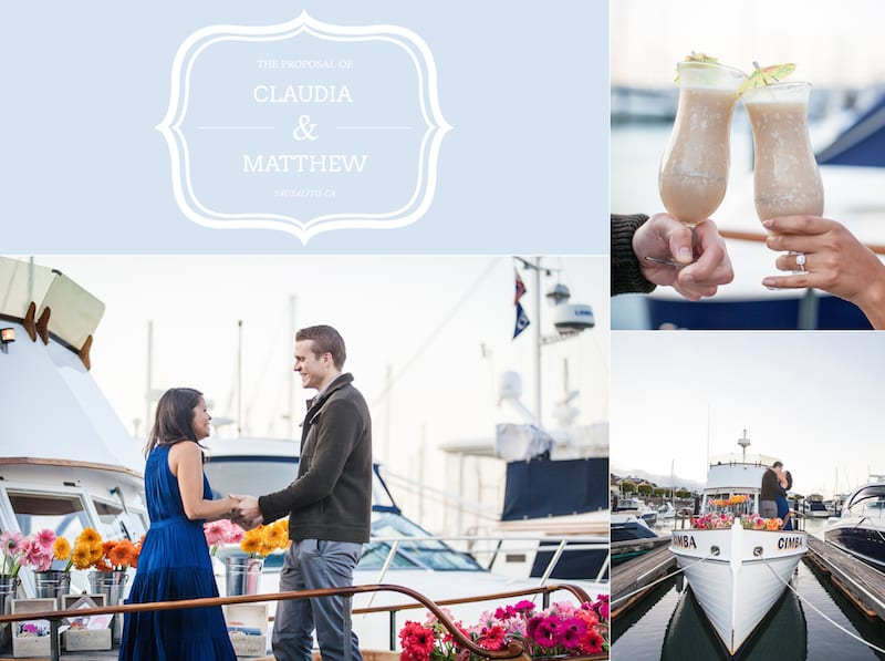 private boat engagement proposal in san francisco
