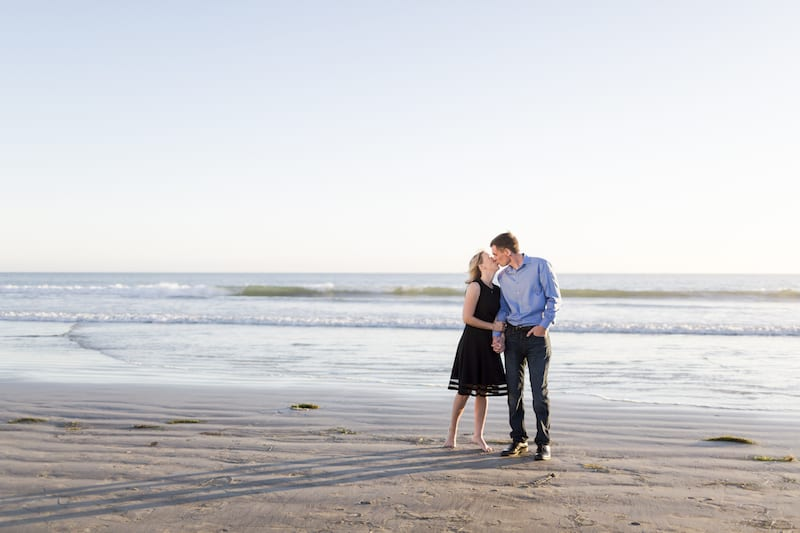 couple engagement photos on beach