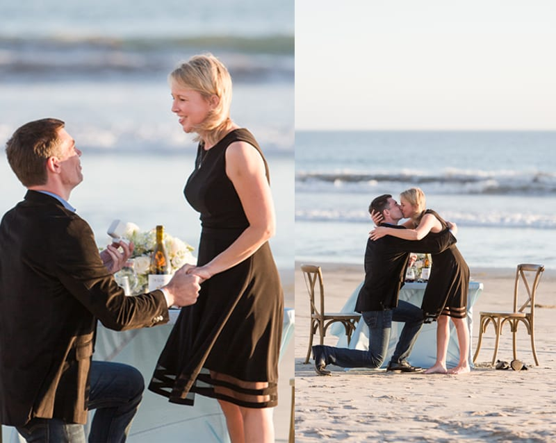 private dinner on the beach proposal
