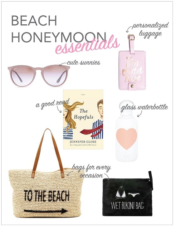beach honeymoon essentials