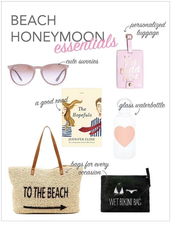 beach honeymoon essentials