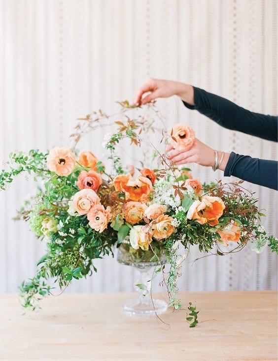 organic wedding florals