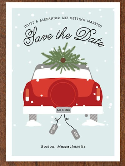 Merry Christmas And Save Our Date