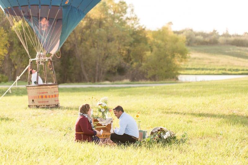 hot airballoon bucket list proposal