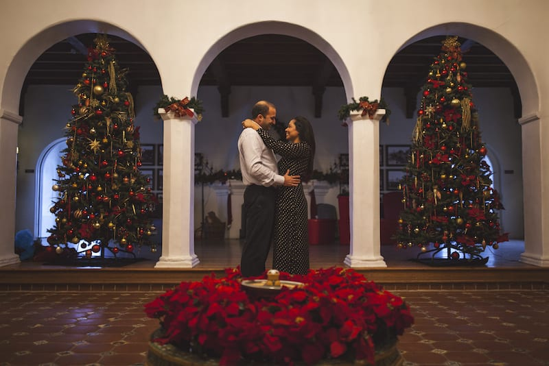 marriage proposal at christmas time