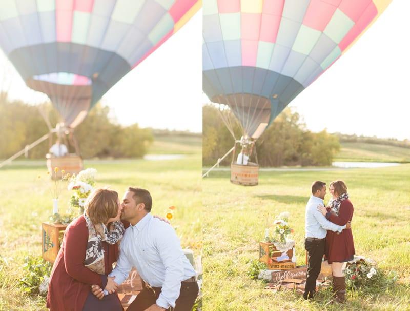 engagement planner in iowa hot air balloon