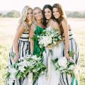 printed bridesmaids dress