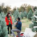 dfw christmas tree farm wedding proposal