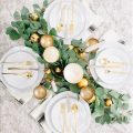 winter New Years tablescape