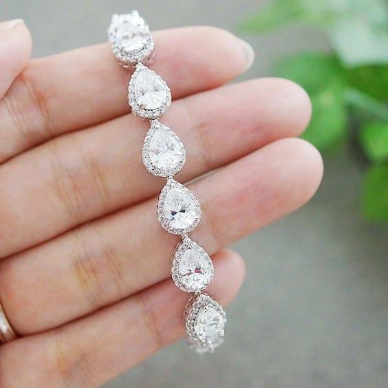 trendy bridal bracelet
