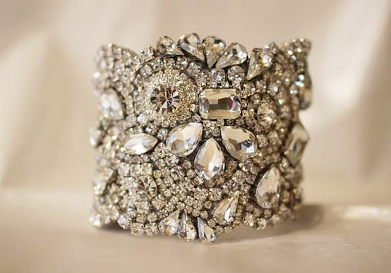 statement bridal bracelet