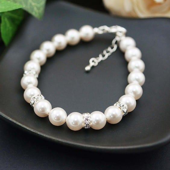 simple bridal bracelet