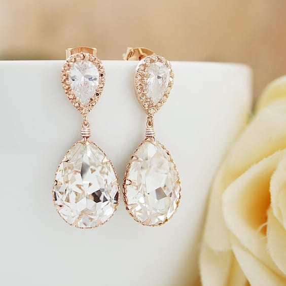 trendy bride earrings