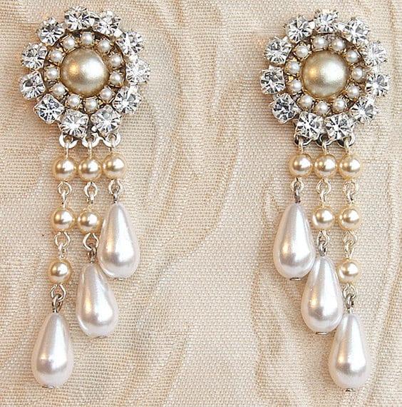statement bridal earrings