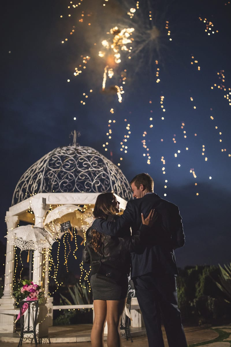 oc marriage proposal with fireworks