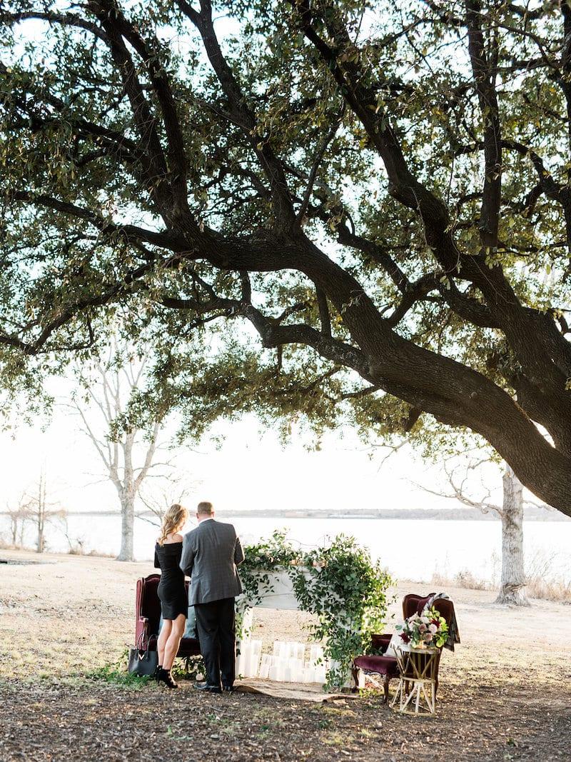 White Rock Lake Wedding Proposal