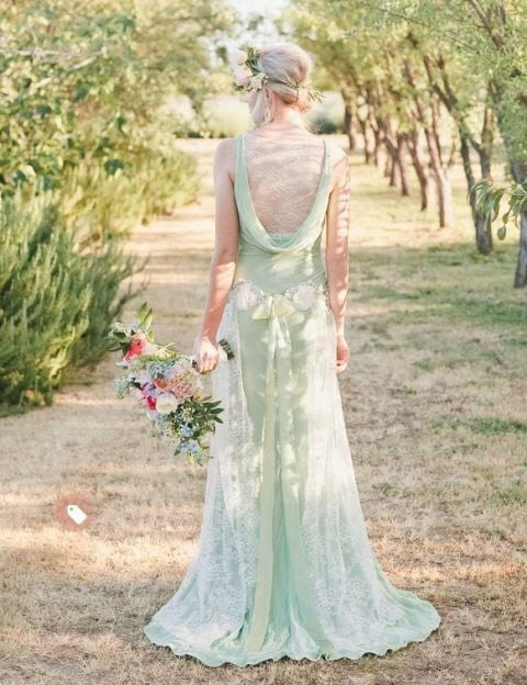 non-traditional bridal gown