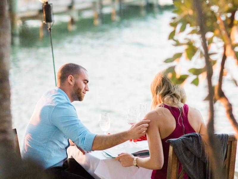 private beach dinner in florida keys