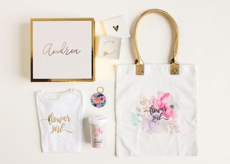 personalized flower girl invitation