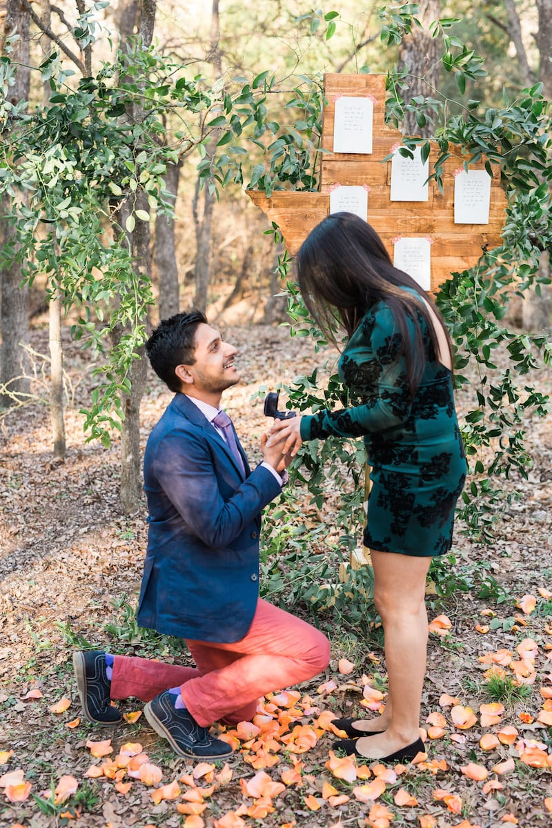 dallas texas cut out marriage proposal