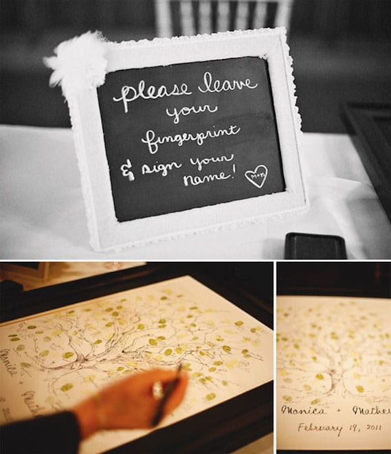 non-traditional wedding guest book ideas