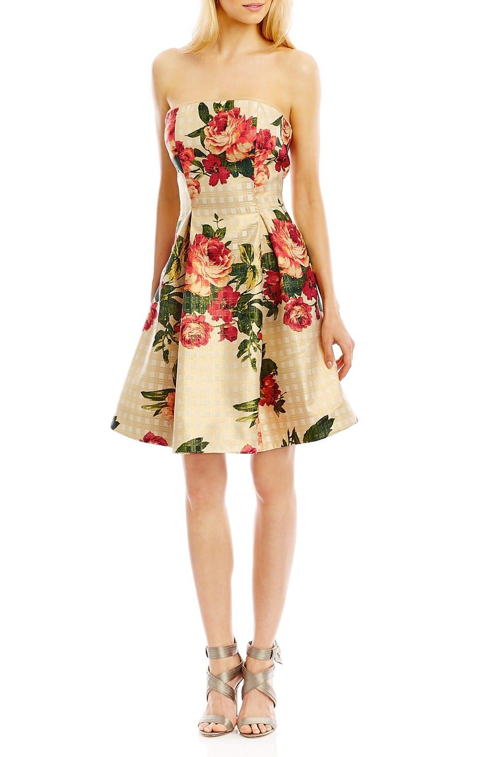 floral cream dress