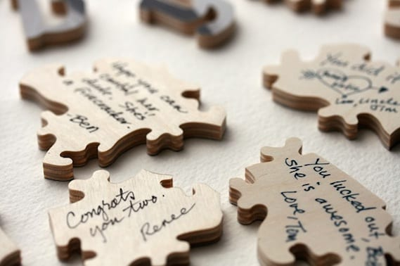 alternative to traditional wedding guest books