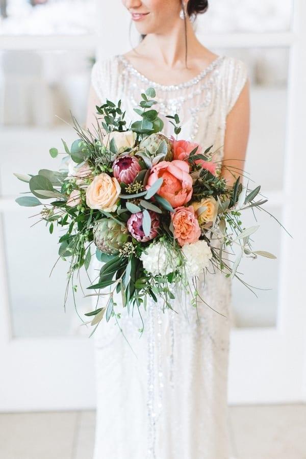greenery bride bouquet