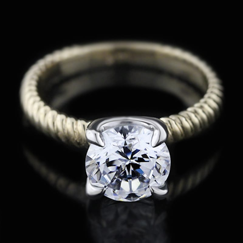 mia donna man-made diamond ring