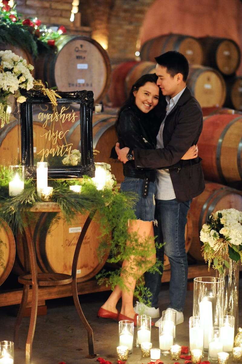 new years eve engagement napa