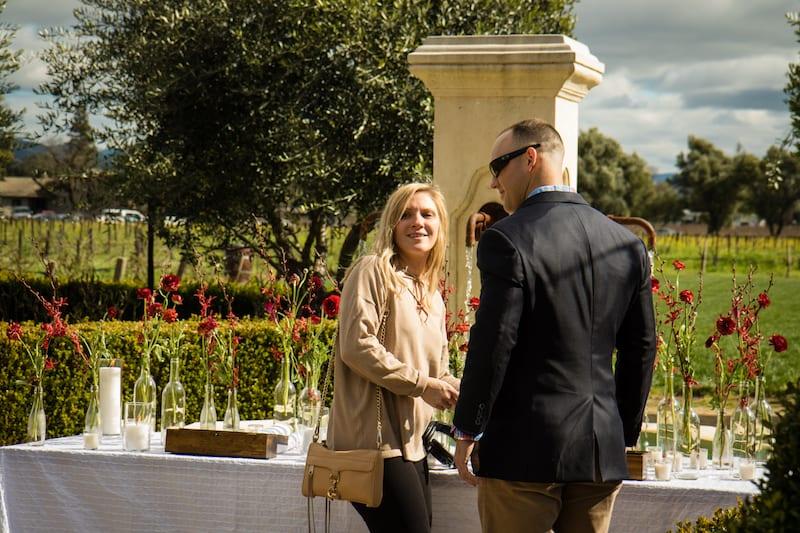 engagement in napa valley vineyard