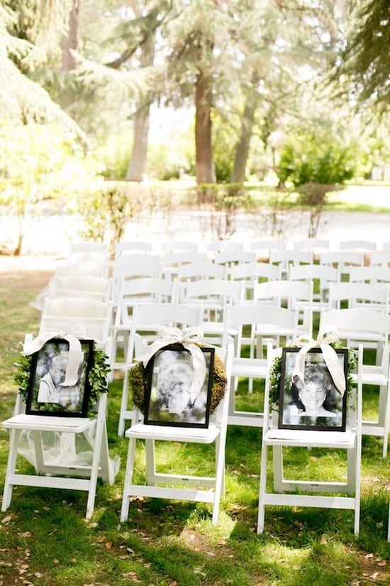 honoring love ones who are deceased at wedding