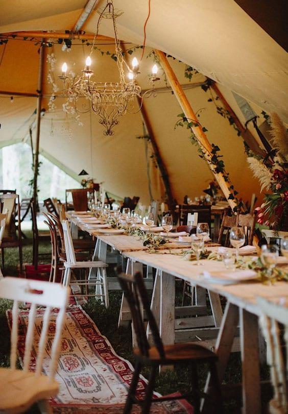 tent wedding bohemian