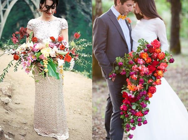 cascading florals bride bouquet