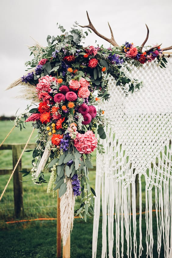 boho chic wedding inspiration