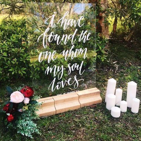 bible verse wedding sign