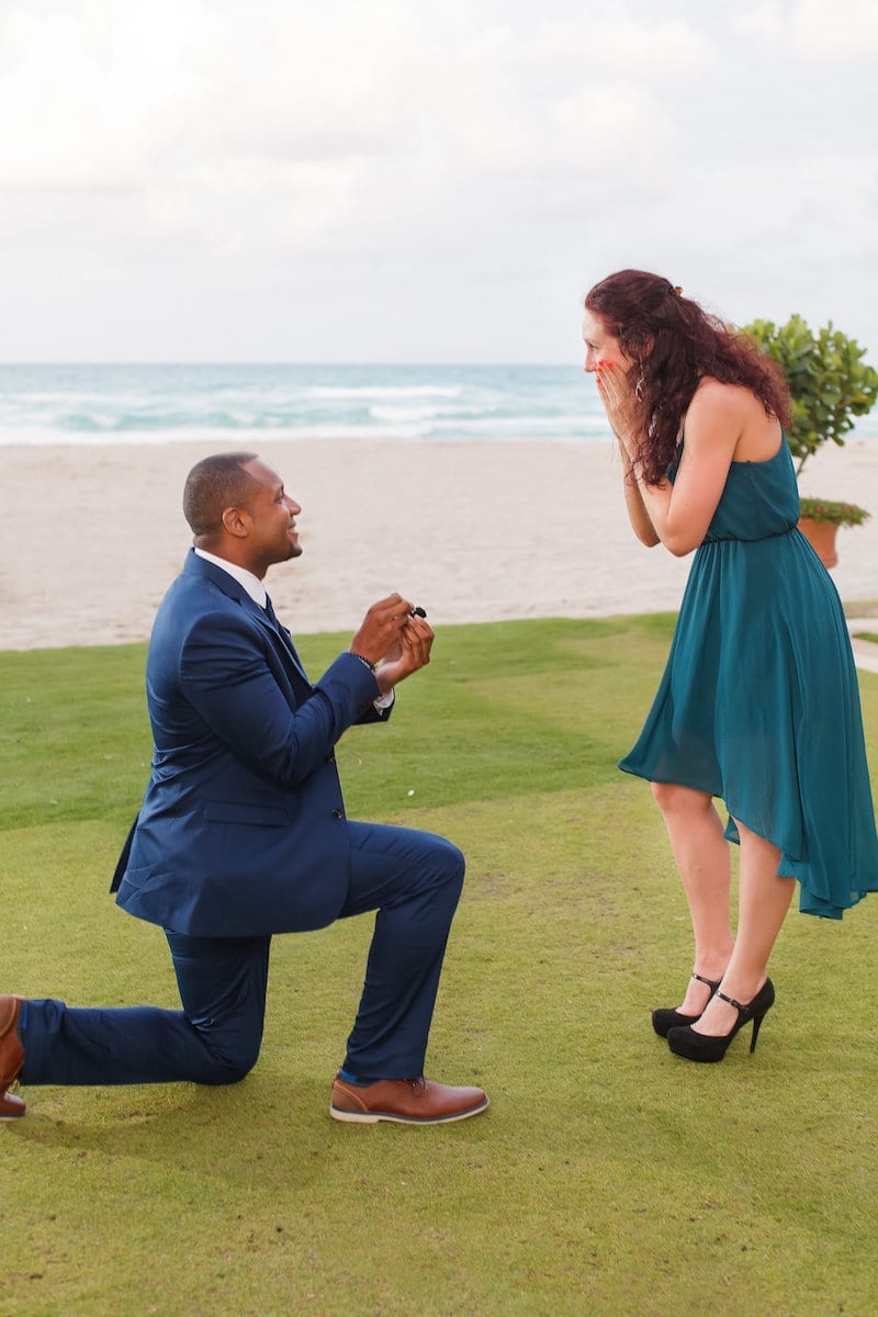 miami beach proposal with dance class