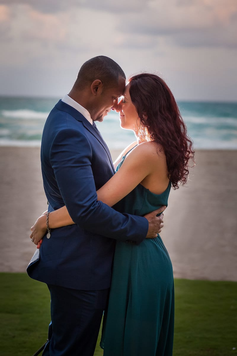 couple engaged beach pictures