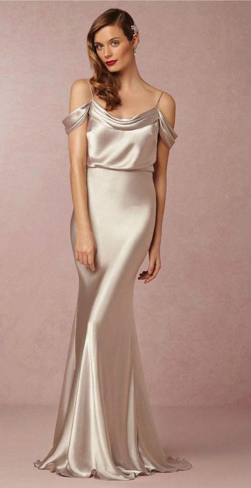 bridesmaid dress made of silk