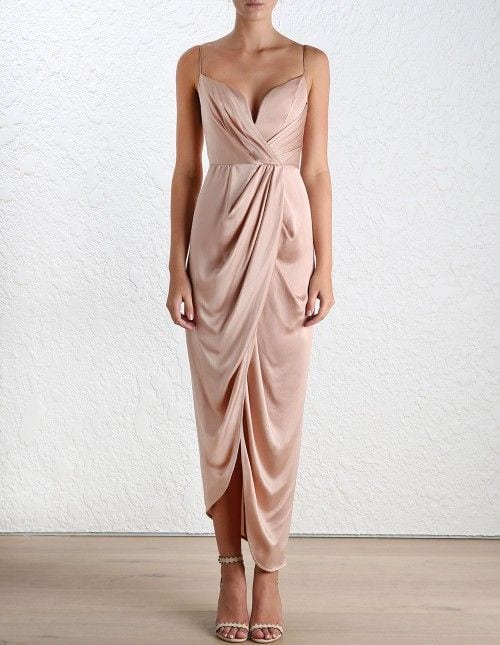 silk bridesmaid dress