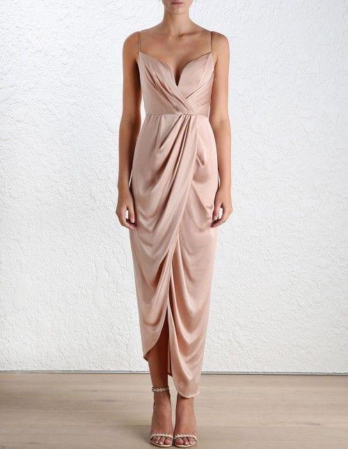 silk bridesmaid dress