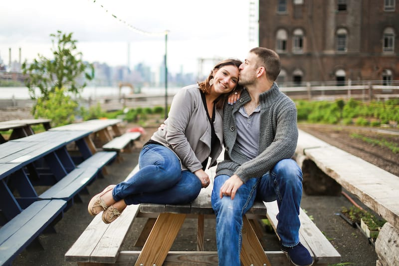New York city picnic engagement