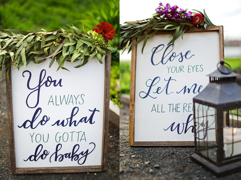 Michael buble lyric signs calligraphy