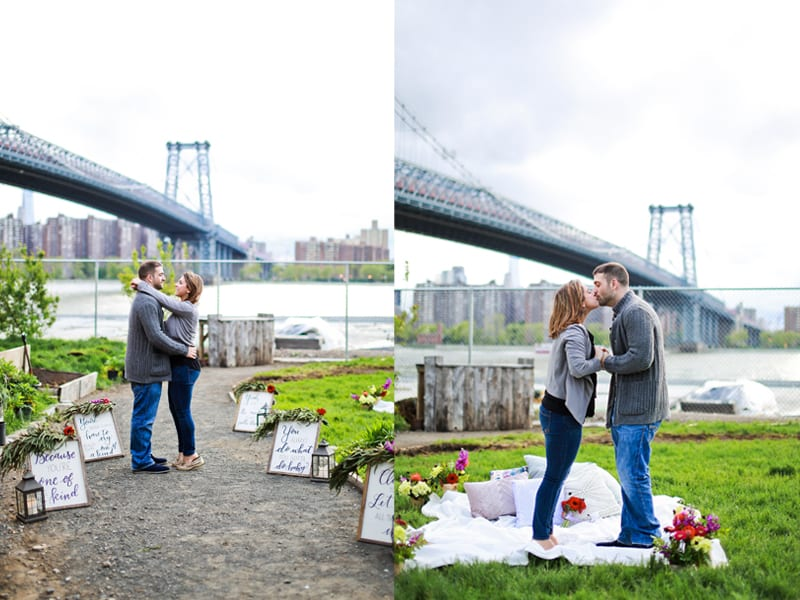 engagement with NYC view
