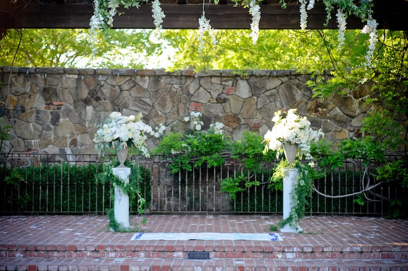 white orchid alter florals