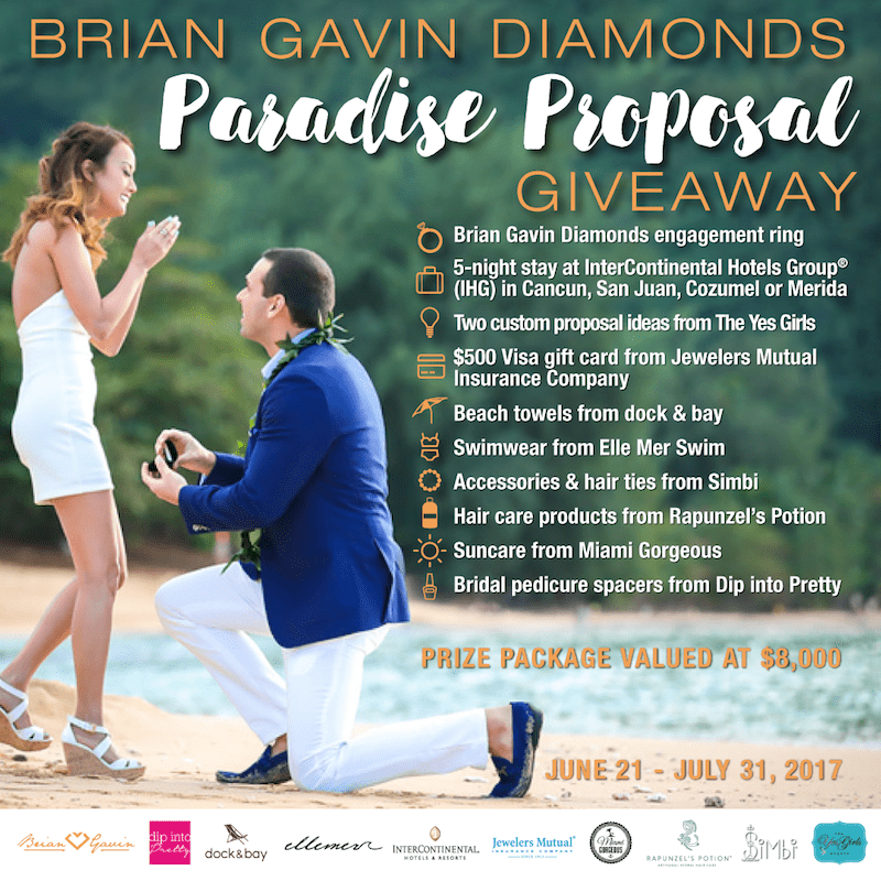 win a dream engagement in paradise