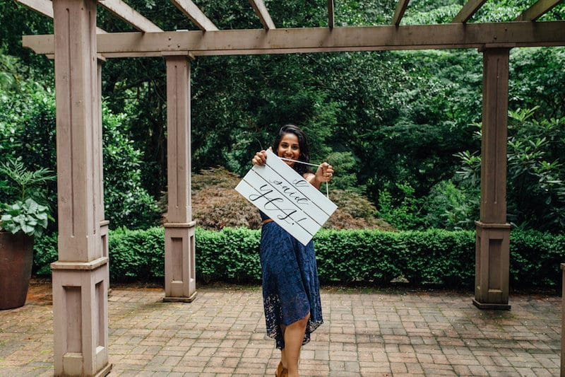 portland botanical gardens engagement