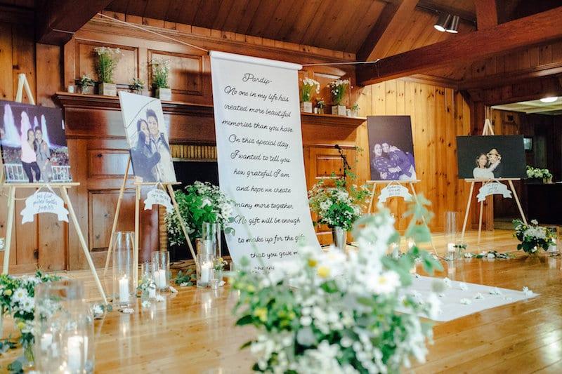 custom aisle runner with letter to bride