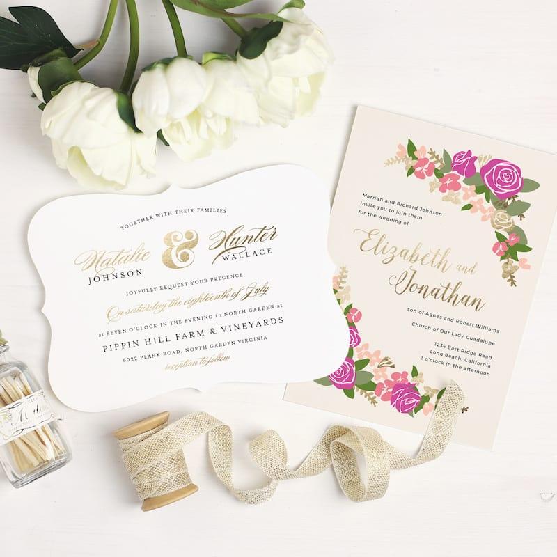 Basic Invite - wedding invites with foil
