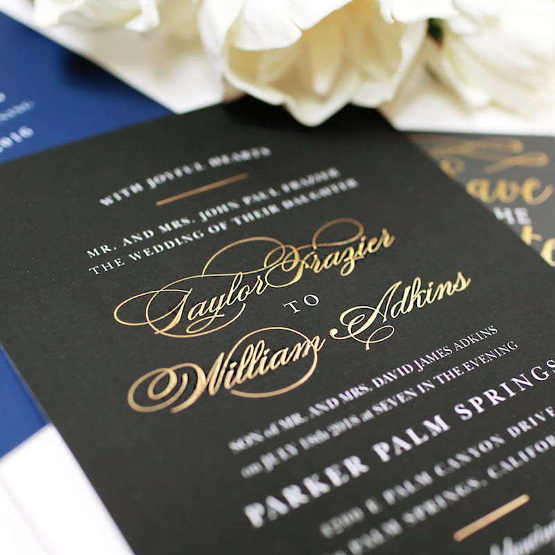 Basic Invite - wedding invites with foil